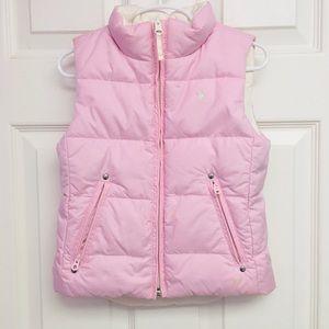 Ralph Lauren Girls Reversible Pink/White Puff Vest